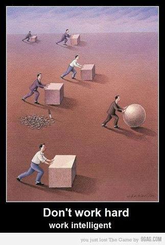 No trabajes duro, trabaja inteligentemente